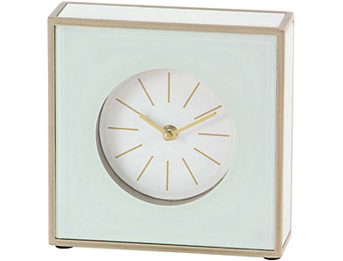 Wood/Glass Table Clock, , large