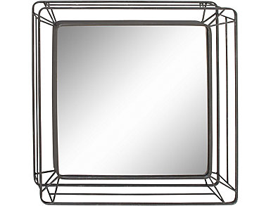 Metal Frame Wall Mirror, , large