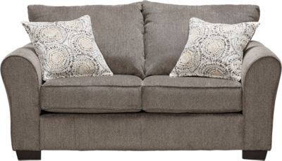 Harlow Linen Loveseat, Grey, swatch