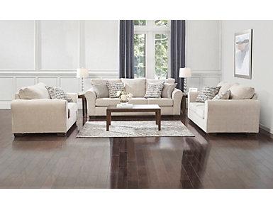 Harlow Linen Sleeper Sofa, , large
