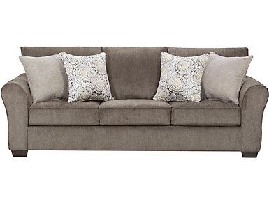 Harlow Linen Sofa, Ash, large