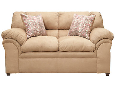 Bailey II Latte Loveseat, Brown, large