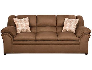 Bailey II Chocolate Sofa, Chocolate, large