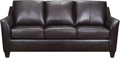 Deco Leather Sofa, Brown, swatch