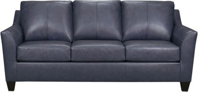 Deco Leather Sofa, Blue, swatch