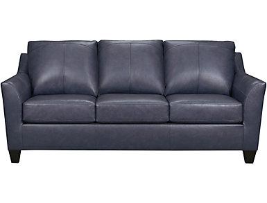 Deco Shale Leather Sofa, , large