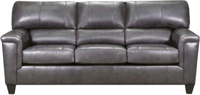 Chroma Leather Sofa, Fog, swatch
