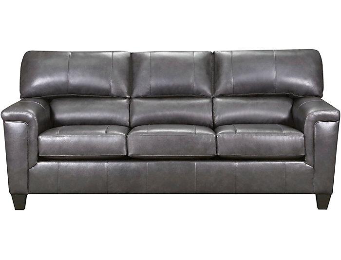 ... Chroma Fog Leather Sofa, , Large ...