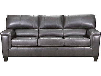 Chroma Leather Sofa, Fog, large
