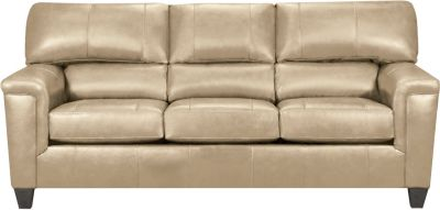 Chroma Leather Sofa, Putty, swatch