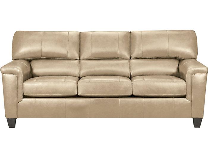 ... Chroma Putty Leather Sofa, , Large ...