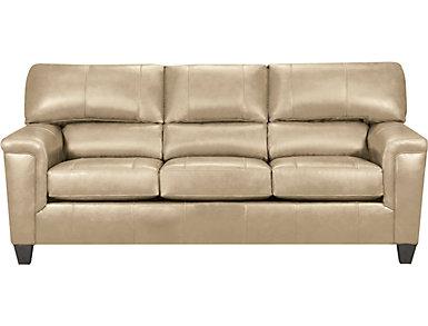 Chroma Putty Leather Sofa, , large