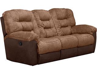 Skylar Chocolate Manual Reclining Sofa, Brown, large