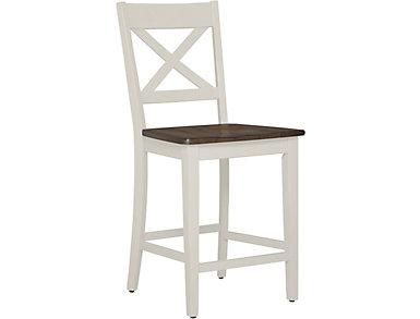 A la Carte White Counter Stool, , large