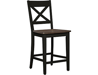 A la Carte Black Counter Stool, , large