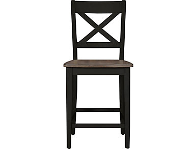 A la Carte Black Counter Stool, Black, large