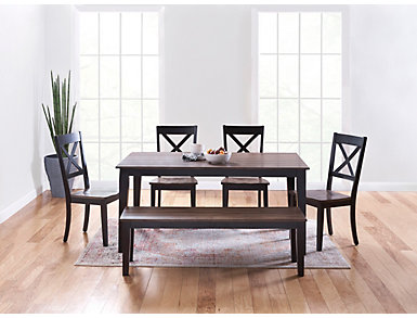 A la Carte Black Rectangular Table, Black, large
