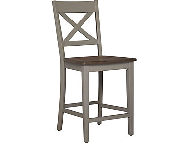 A la Carte Grey Bar Stool, , large