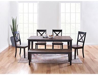 A la Carte Black Dining Chair, Black, large