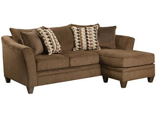 Albany Sofa Chaise, Chestnut, large