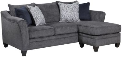 Albany Sofa Chaise, Pewter, swatch