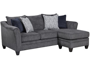 Albany Sofa Chaise, Pewter, large