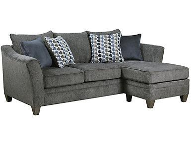 Albany Truffle Sofa Chaise, Slate, large