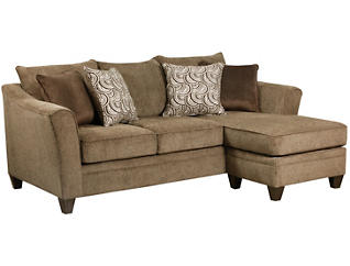 Albany Sofa Chaise, Truffle, large