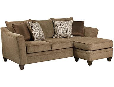 Albany Truffle Sofa Chaise, Truffle, large