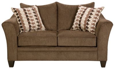 Albany Truffle Loveseat, Brown, swatch