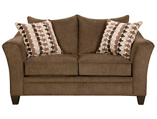 Albany Loveseat, Chestnut, large