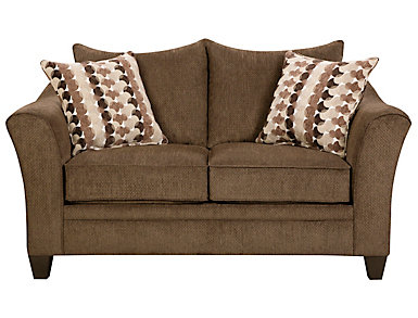Albany Truffle Loveseat, Chestnut, large