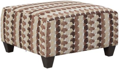Albany Cocktail Ottoman, Truffle, Chestnut, swatch