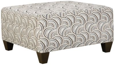 Albany Cocktail Ottoman, Truffle, Pewter, swatch