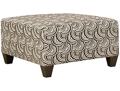 Albany Truffle Cocktail Ottoman, Truffle, large