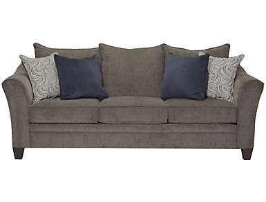Albany Truffle Sleeper Sofa, Pewter, large