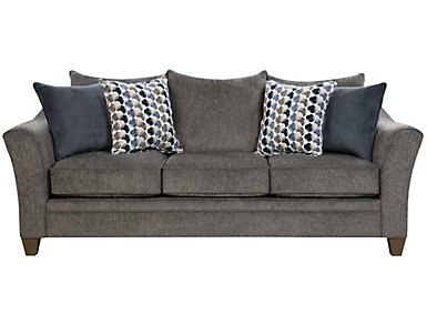 Albany Truffle Sleeper Sofa, Slate, large