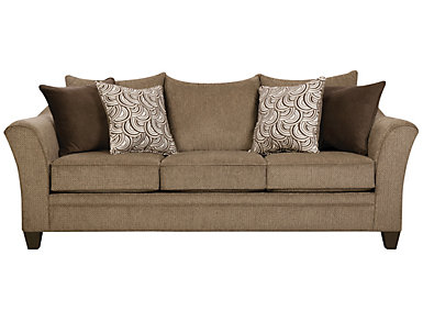 Albany Truffle Sleeper Sofa, Truffle, large