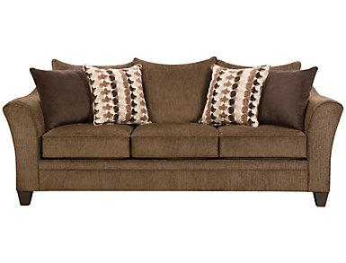 Albany Truffle Sofa, Chestnut, large