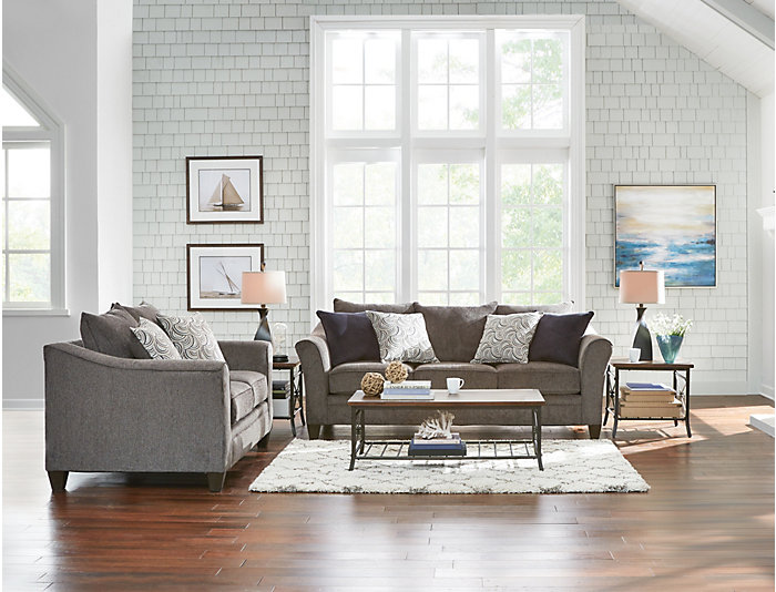 Albany Pewter Sofa, Pewter, large