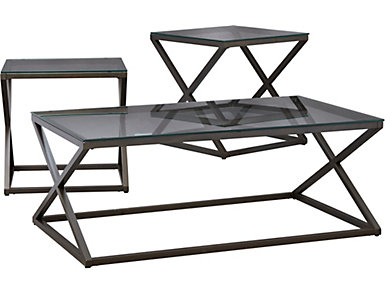 3 Pack Occasional Tables, Metal, , large