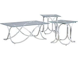Chrome 3PK Occasional Tables, , large