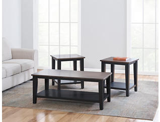 A la Carte Black End Table, Black, large