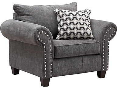 Metro Charcoal Chair and a Half, Grey, , large