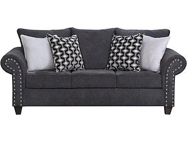 Metro Charcoal Full Sleeper Sofa, Grey, , large