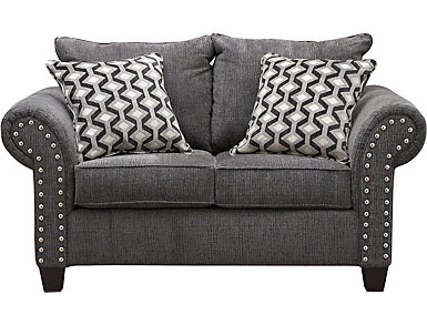 Metro Charcoal Loveseat, , large