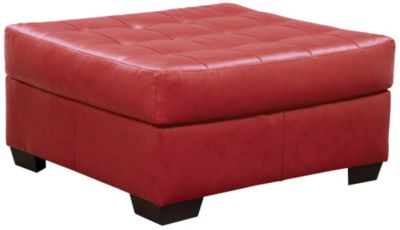 Soho II Cocktail Ottoman, Onyx, Red, swatch