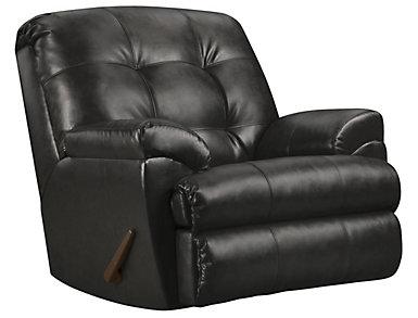 Soho II Onyx Recliner, Black, large