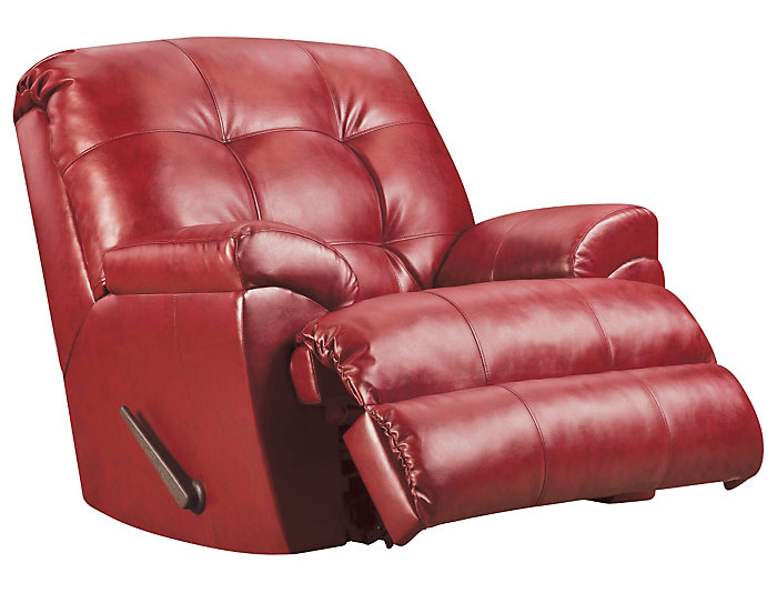 Soho II Recliner, Red, Red, large