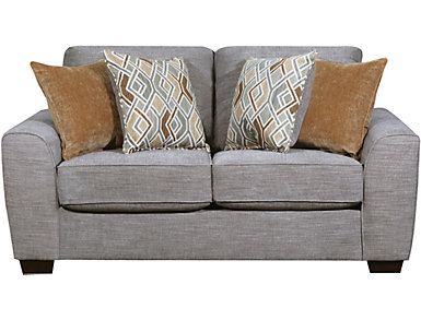 Beckett Silver Loveseat, , large